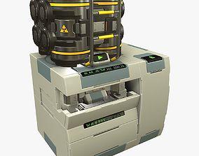 3D asset Sci-F Chromatograph