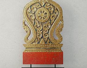 3D model 19th Century Thai Wood Carving 6