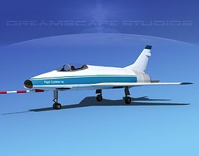 3D model North American F-100E Flight Systems