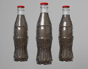Cola Glass Bottle Model 3D