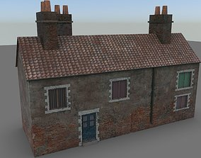 3D asset Farm House low poly