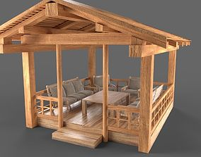Wooden Pavillon 3D model