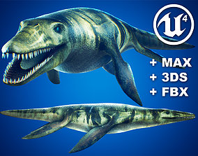 3D model Realistic Pliosaur Mosasaurus with UE4 Support