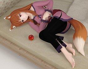 Horo anime girl pose 06 3D