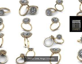 Diaman OVAL Rings 3D model