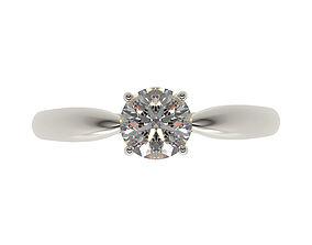 3D print model Tiffany Harmony style engagement ring 2
