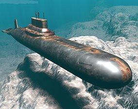 Models submarine Russian class typhoon military