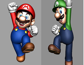 Super Mario and Luigi - 2 PACK - HI RES 3D PRINT FILES 3D