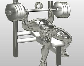 3D print model Bench press GYM athlete pendant