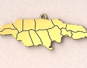 3D print model Jamaica Map Charm Pendant