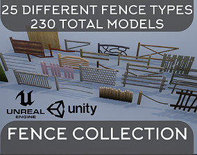 3D model Wooden Fence Collection