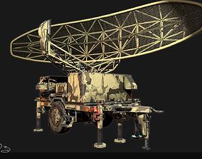 Low Poly PBR Sentinel Radar - Pulse Acquisition 3D model