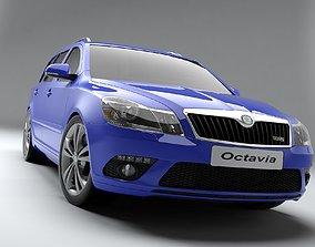 3D model Skoda Octavia RS 2010