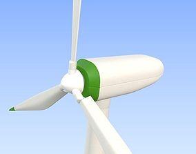 3D asset Eco Wind turbine