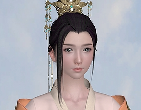 low-poly Chinese beauty Woman Female pretty girl laddy 1