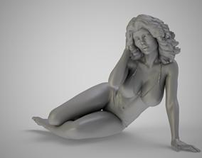 beach 3D printable model Girl on the Beach