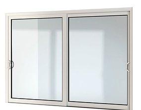 Modern double window 18 am109 3D model