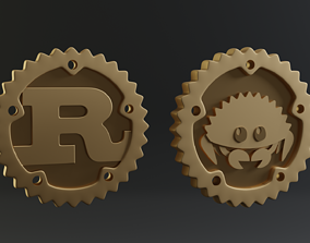 Coin for Rust Logo and Ferris 3D printable model