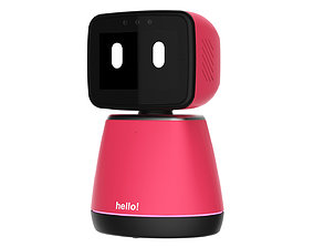 3D model Generic Home Assistant Robot 01 Pink