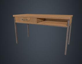 3D asset Beech Wood Desk - Office Desk - Desk - Beech 2