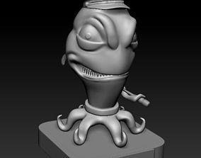 Alien in pirate hat 3D print model