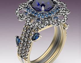 3D print model Ring Bud of Hearts