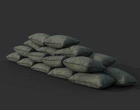 Low poly Sandbag 03 B 3D asset