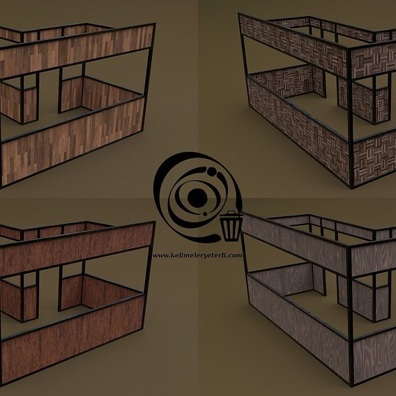 Stall stand 20 4in1 RR - 4 PBR Texture 1 Model