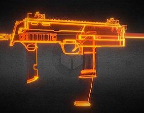 Mp7 Gun-weapon model 3D asset