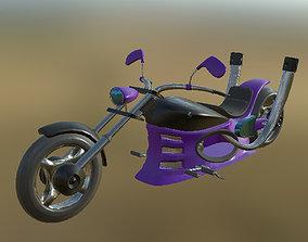 3D asset Chopper 01 PBR