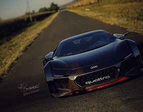 3D asset Quattro Spectre coupe version