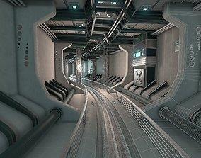 Sci Fi underground tunnel 3D model