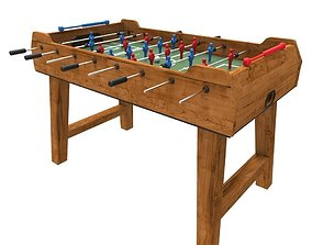 3D model low-poly foosball table