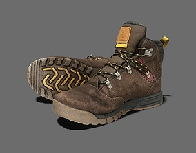 3D asset Work Boots Game Ready