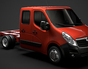 3D model Vauxhall Movano CrewCab DW E20 Chassis 2014
