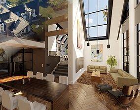 3D model Blender Eevee Modern Villa