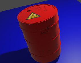 3D model realtime Explosive Barrel