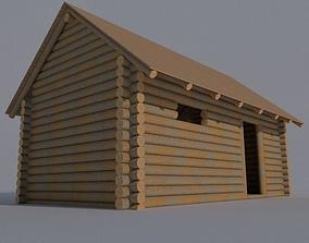 3D Log cabin