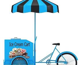 3D model Ice Cream Cart cart