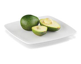 3D model Avocado fruits