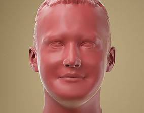 3D printable model Male Head 02