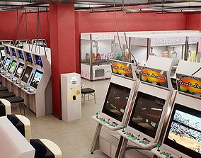 Japanese Arcade - Environment and Prop Pack 3D asset