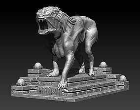 Predator Dog File STL OBJ for 3D Printing FDM-FFF