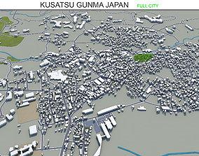 Kusatsu Gunma Japan 15km 3D asset