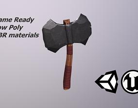 Styelized Fantasy Axe 3D asset