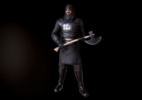 "Low poly Warrior model POSED / Special Project ""Muslim Toys"""