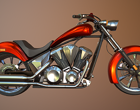 Honda Fury Motorcycle Red 3D model