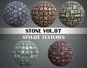 3D model Stylized Stone Vol 07 - Hand Painted Texture