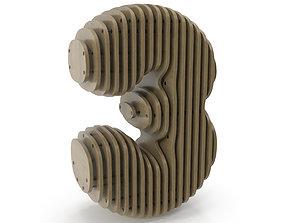 3D model Wood symbol 3