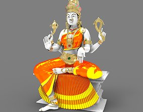 3D god Indian Goddess Idol